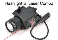 Tactical Red Laser Flashlight Sight Scope Combo Weaver Picatinny Rail Rifle 200 Lumen For Pistol HT8