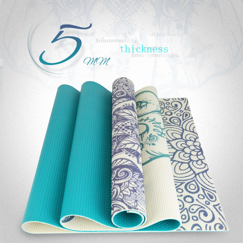 PVC YOGA MAT approved SGS gym mat fitness yoga mat yoga pilates mat pu 5mm for beginners and seniors widened workout yoga pilates gym exercise fitness gym mat