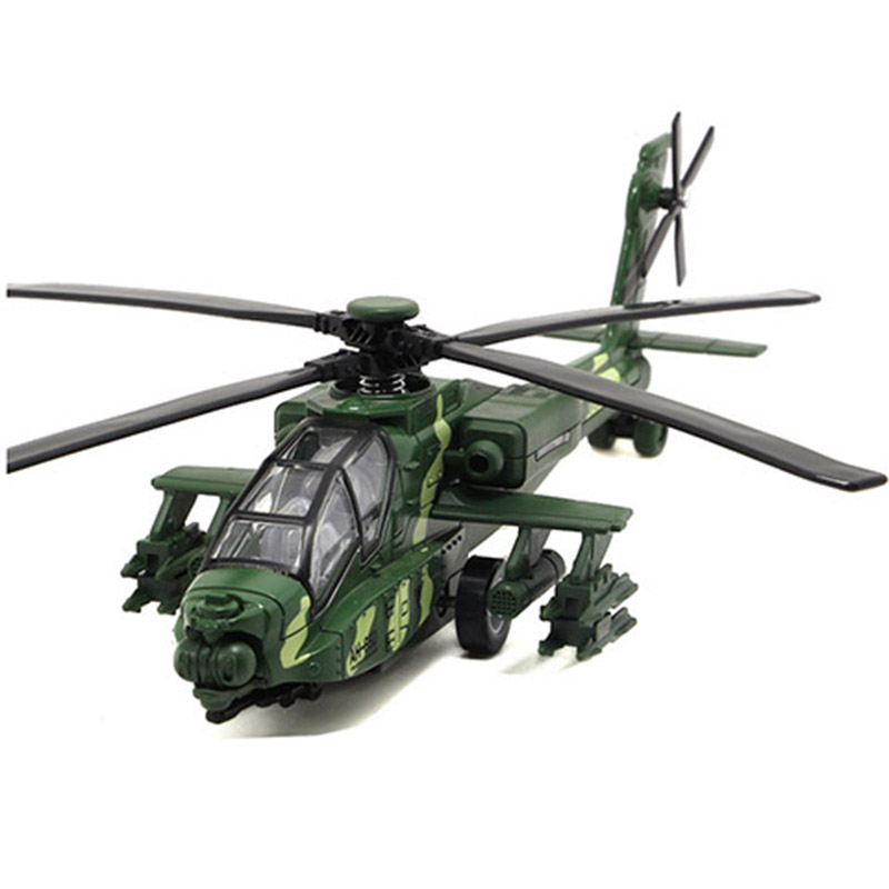 1:32 Straight 10 Alloy Gunship Model Military Camouflage Fighter Air Plane Can Trigger Sounds and Light image