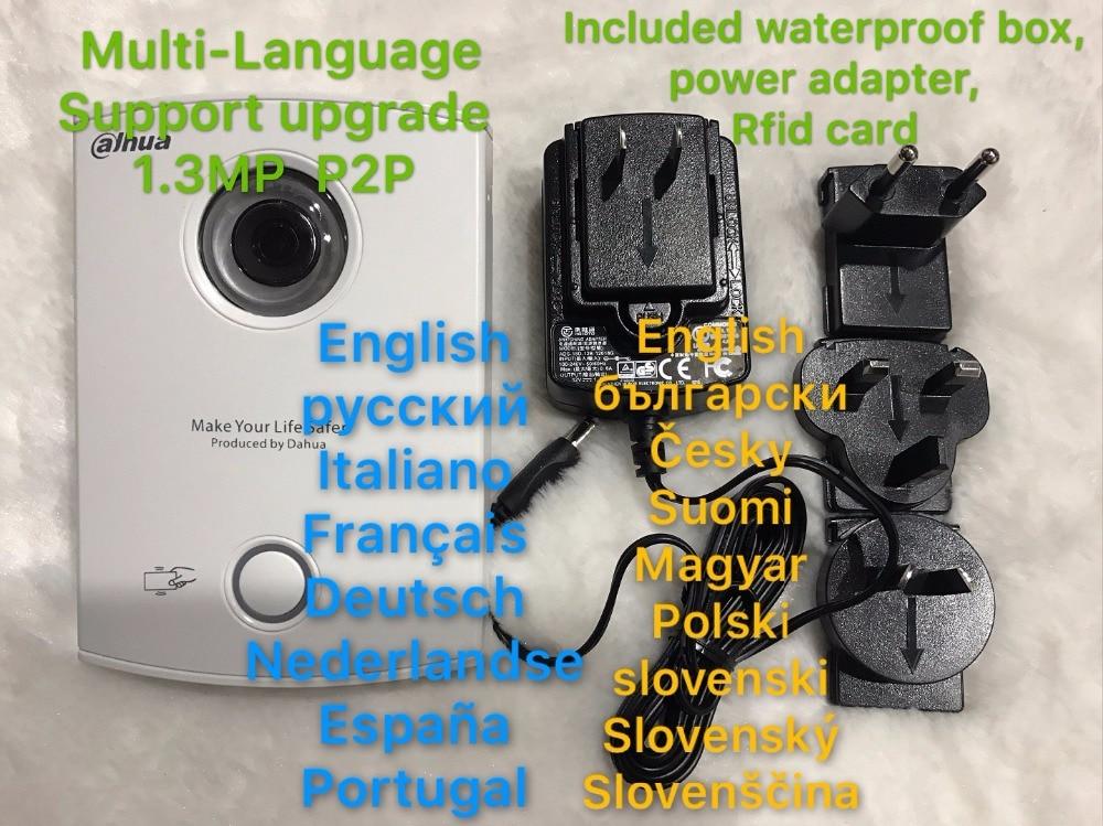 Include waterproof box Dahua VTO6100C Villa Outdoor Station Video Door Phone Video Intercom IC card opening