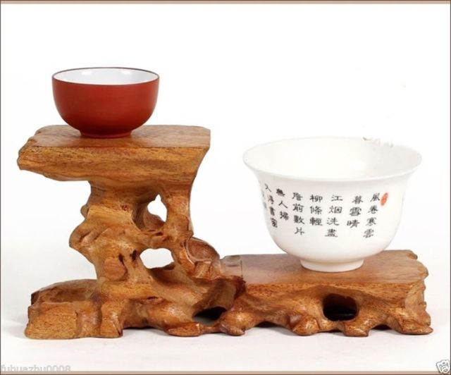 Hard Wood Crafted 40 Tiers High Low Display Stand For Teapot Cup New Wooden Display Stands For Figurines