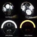 """7 """"60 W LEVOU Farol para Jeep 12 V 24 V LEVOU DRL Daymaker Projetor Lâmpada Do Farol Dianteiro de Condução Farol Cabeça Styling luz"""
