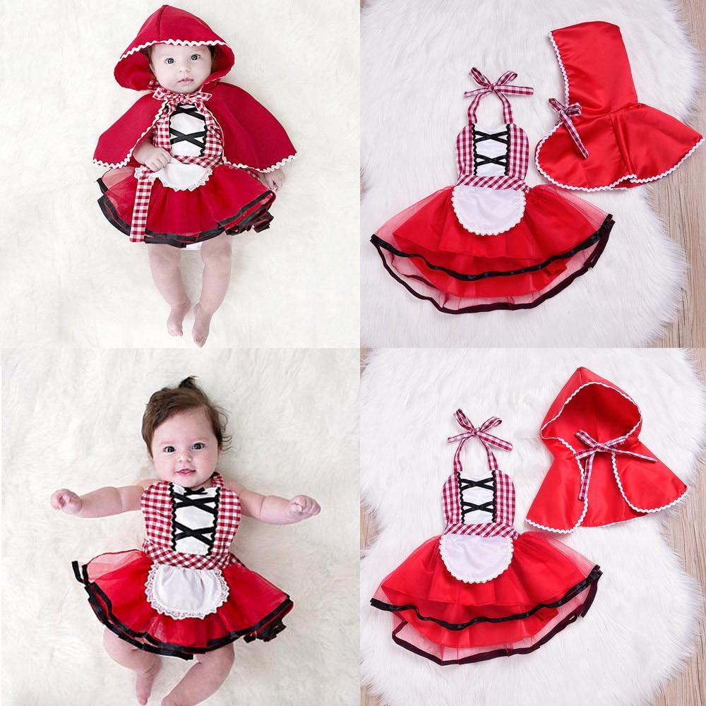 2Pcs Toddler Newborn Baby Girls dress Plaid Tutu Lace Dress Hooded Cloak Outfits Set Girls Clothes Vestido Infantil