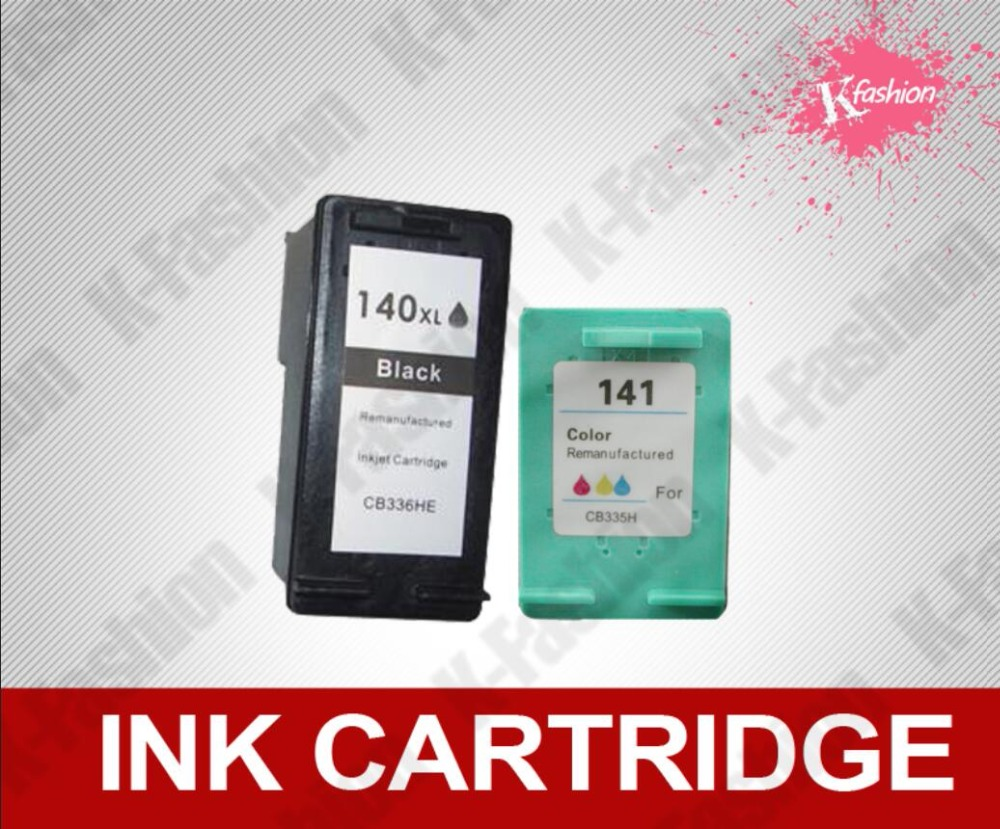 Compatible ink cartridge for <font><b>HP</b></font> <font><b>140</b></font> + <font><b>141</b></font> XL type ,for <font><b>HP</b></font> DeskJet 5363 D4263 OfficeJet 6413 J5783 AIO J5783 All-In-One J6413 AIO image