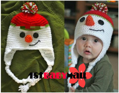 1st Baby Mall Retail 1pc New 2013 Baby Christmas Snowman Caps