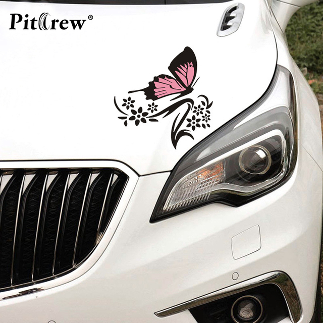 1pair big size 2931 butterfly cartoon animals car sticker wall vinyl window body decal