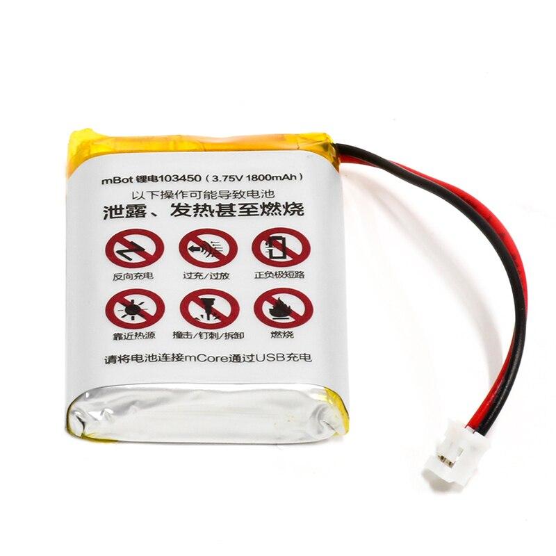 원래 makeblock mbot v1.0 또는 mbot v1.1 배터리 lipo pil 7.4 v 1800 mah 배터리 usb 충전 라인