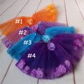 2014 baby girls cute romantic tutu sunmer kids skort flower lace tulle skirts for girls