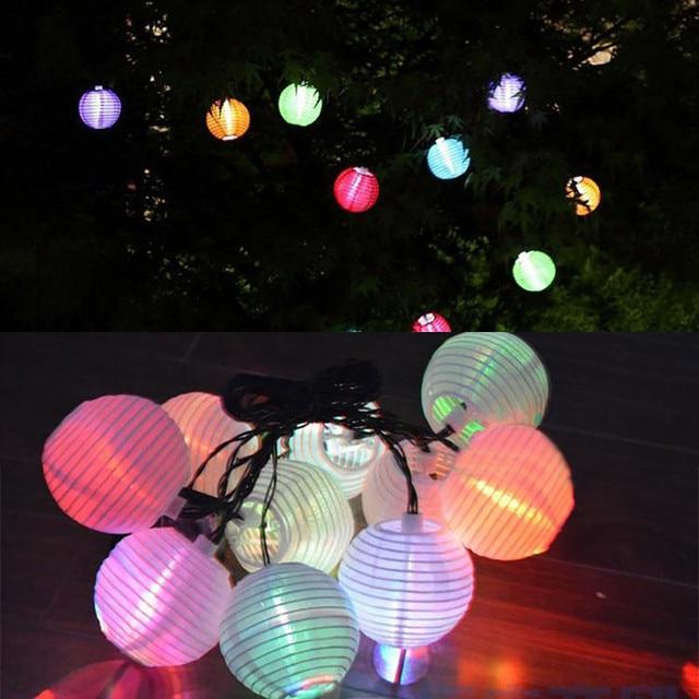 Fashion design Multicolor Garden Path Solar Power String Christmas