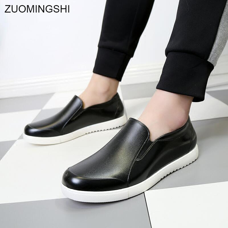 2018 New Korean style rain boots men anti-slip kitchen bot working boots rubber shoes waterproof shoes light weight galoshes цена