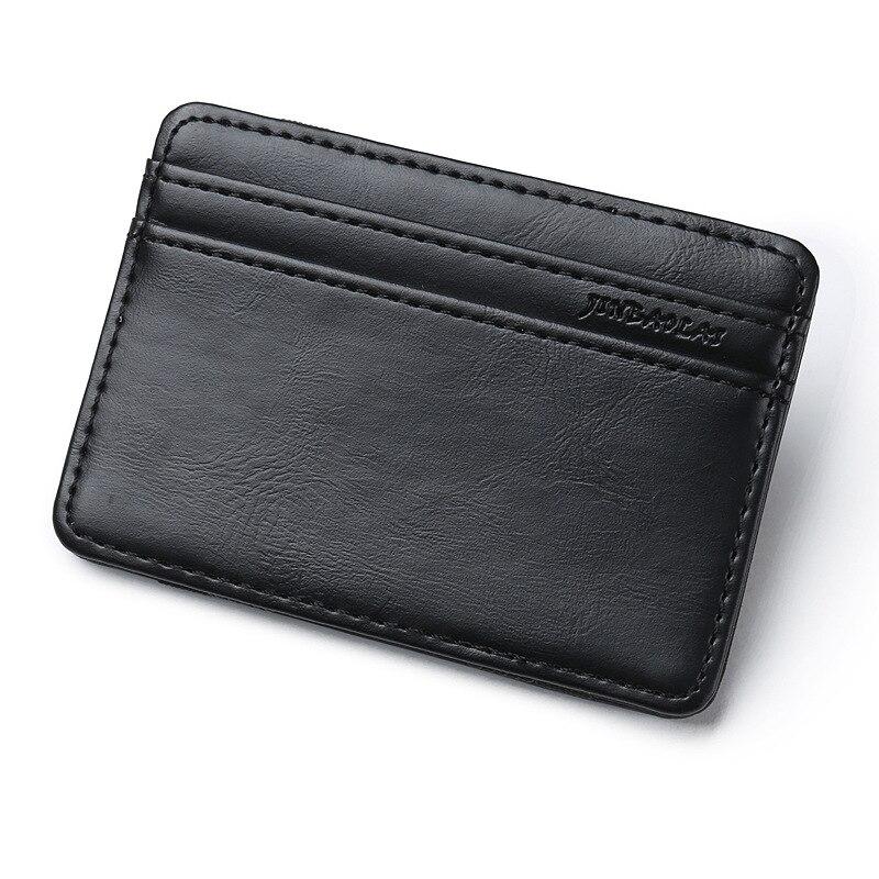 Card Holder Vintage Style High Quality PU Leather Magic Wallets Mini Card Holder Magic Wallet Slim Cardholder Card Case