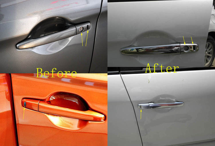 Free shipping For Mitsubishi Outlander Lancer 2008 RVR  ASX 2010 2011 2012 2013 2014 ABS Chrome Car Door Handle Cover (14)
