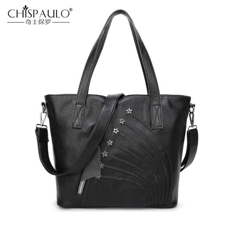 100% Fashion Genuine Leather Bags Famous Brand Large Casual Tote Luxury Handbags Women Bags Designer Zipper Shoulder Bags SH380