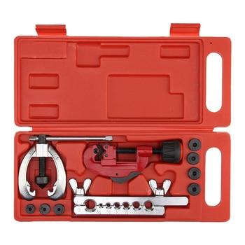 WSFS acero tratado térmicamente, freno de corte de tubo de metal, reparación de tuberías de combustible, juego de herramientas de doble abolladura, abrazadera KitFor corte y abocardado