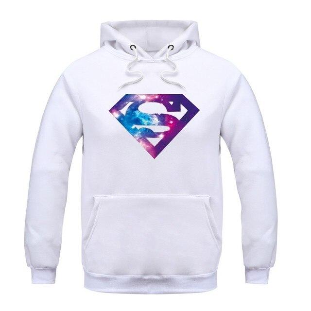plus size cotton Blend hoodies  superman men  Hip Hop Skateboard  Hoodies with hat fleece casual l men hoodies sweatshirts