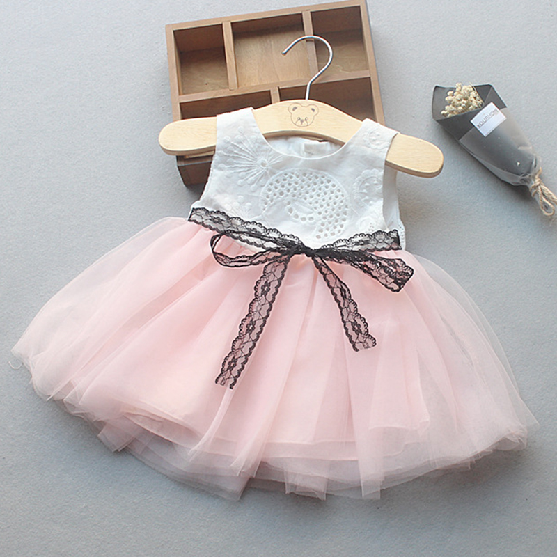 Bear Leader Girls Dresses 2018 New Fashion Princess Clohting Stretch Waistband Sleeveless Lace Ball Gown Dresses For 6-18 Month