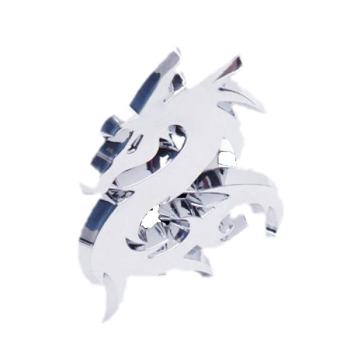 3D Dragon Car Emblem Badge Decal Sticker Silver