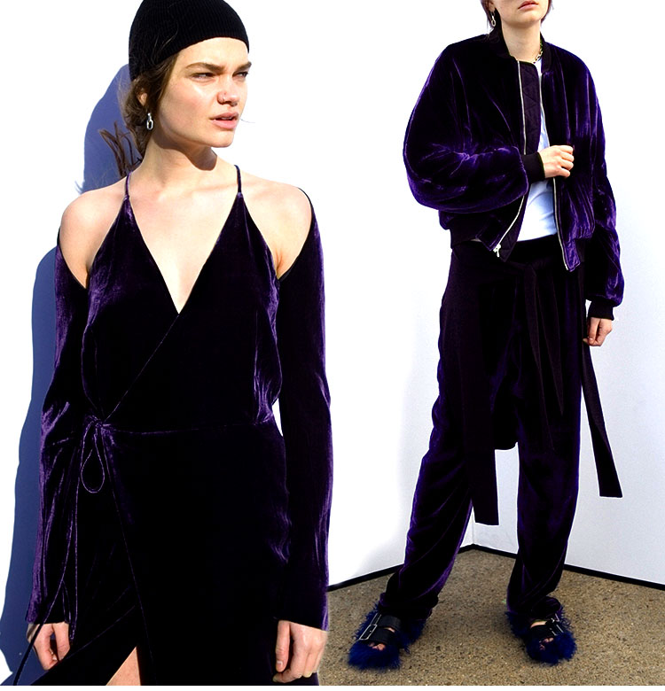 Fashion Dark Purple Silk Cotton Fabric Jacquard 100% Silk Fabrics Silk Velvet Fabric Material Tulle Hair Coton Tissu Au Metre