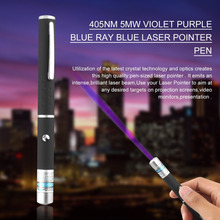 Powerful Blue Violet Laser Pen Pointer Visible Beam Light 5mW 405nm Professional High Power Portable