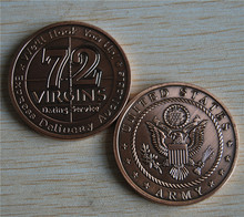 Free Shipping 5pcs/lot,U.S. Army / 72 Virgins - Bronze Challenge Coin