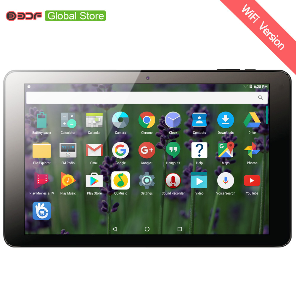Russian Moscow Warehouse Ships 10.1 Inch Android 7.0 Original Tablet Pc IPS LCD Display 1GB+32GB Quad Core 6000 Big Size Battery
