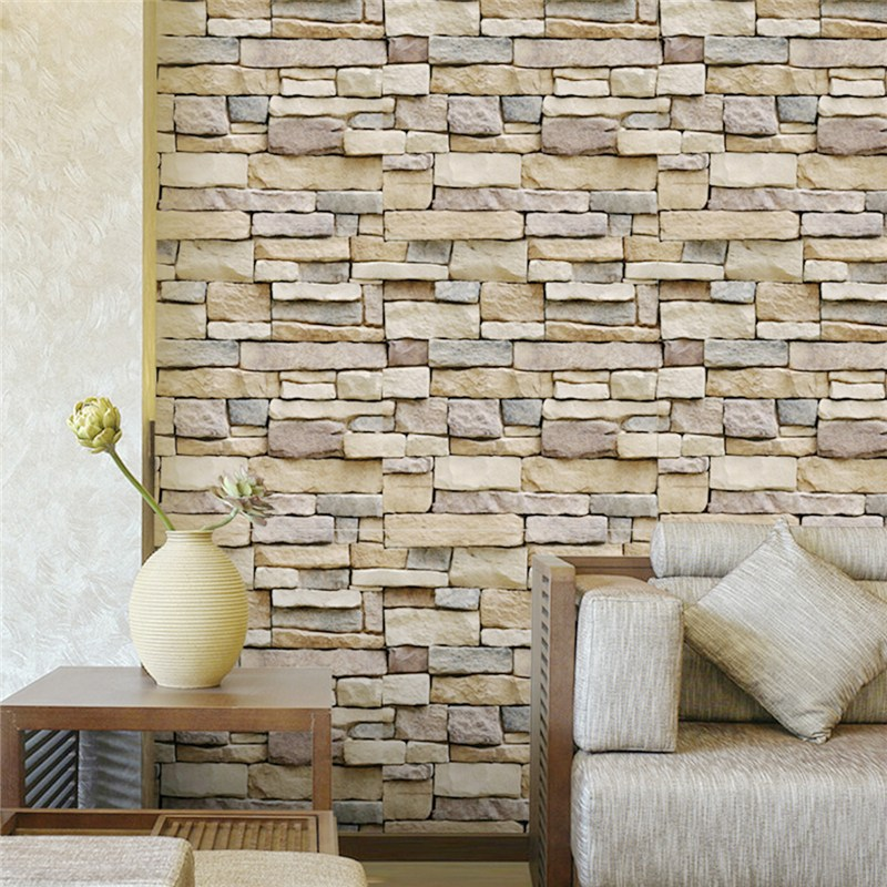 Vinyl Self Adhesive Schist Wallpaper Home Decoration Environmental PVC Wall Stickers Waterproof Brick For Bedroom Living Room interior design vinyl 3d wallpaper for home decoration
