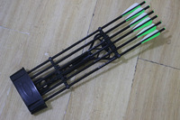 Archery Octane 6 Arrow Quiver Black for Compound Bow Hunting