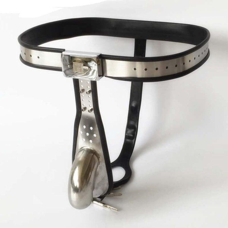 2018 nowy ze stali nierdzewnej silikonowe chastity belt mężczyzna urządzenie chastity cock cage sex zabawki dla mężczyzn bdsm bondage blokady dla dorosłych produkty w Pierścienie na penisa od Uroda i zdrowie na AliExpress - 11.11_Double 11Singles' Day 1