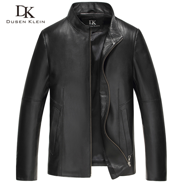 Men Genuine Leather Jacket Spring Outerwear Black/Slim/Simple Business Style/Sheepskin Coat DK191