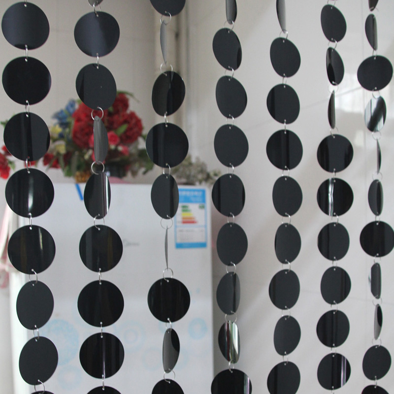 5m Festive Decor Curtains Party Background Decorations Green Black Sequin Plastic Curtains DIY Wedding Supplies