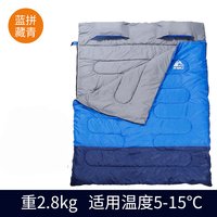 Hewolf outdoors adult envelope camping sleeping bag Hotel septum traveling use can splicing into two seperate single bag