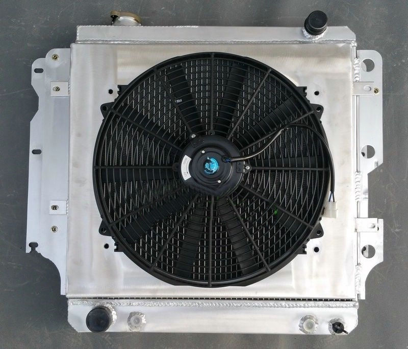 SHROUD FAN for 87-06 JEEP WRANGLER YJ TJ 2.4//2.5//4.0//4.2 3ROW ALUMINUM RADIATOR