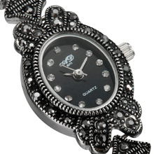 Nouveau À La Mode Elegent Noir Analogique Dame de Bracelet Bracelet À Quartz Montres Cadeau LL