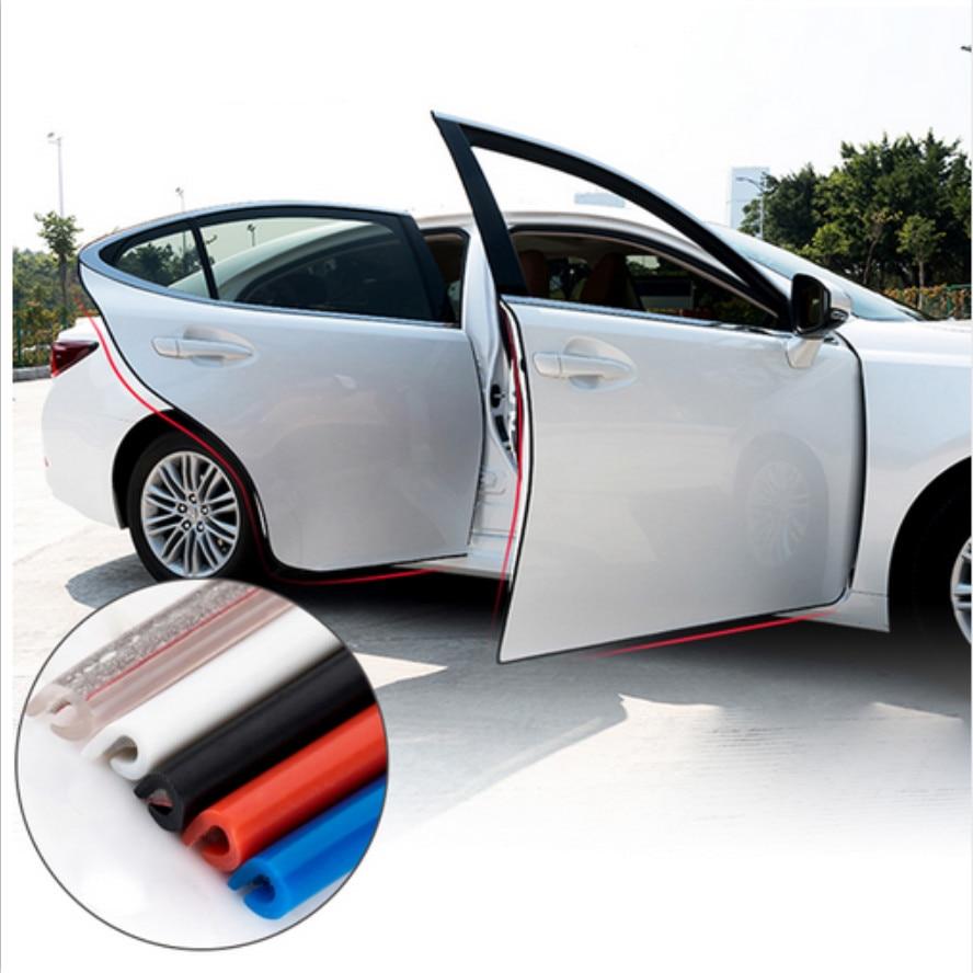 For Peugeot 208 2008 508 408 4008 5008 307 308 407 406 Car Door Anti Collision Rubber Strip Decoration Stickers Car Accessories