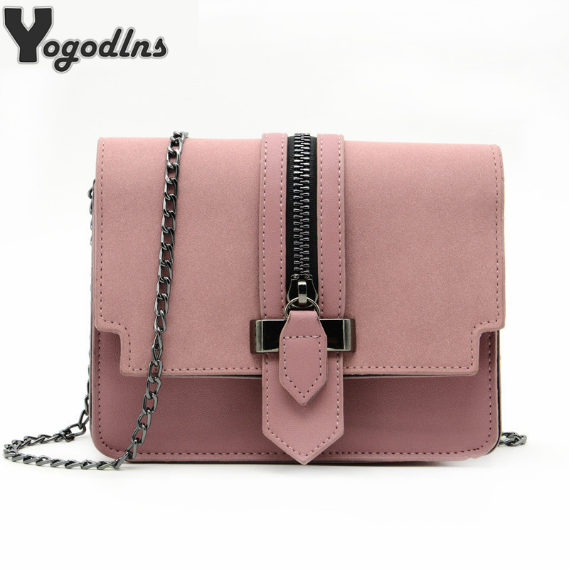 Party Purse Handbags Messenger-Bag Chain-Shoulder-Bag Crossbody-Bags Small Matte Fashion
