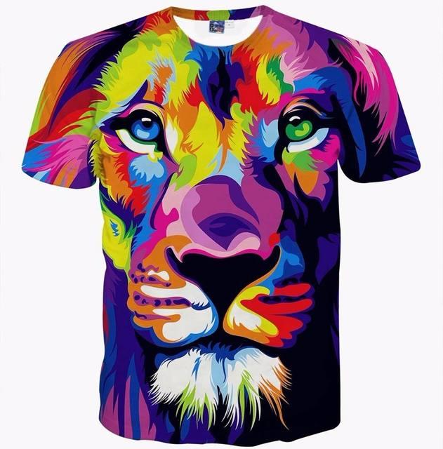 LION FACE THEMED 3D T-SHIRT (4 VARIAN)