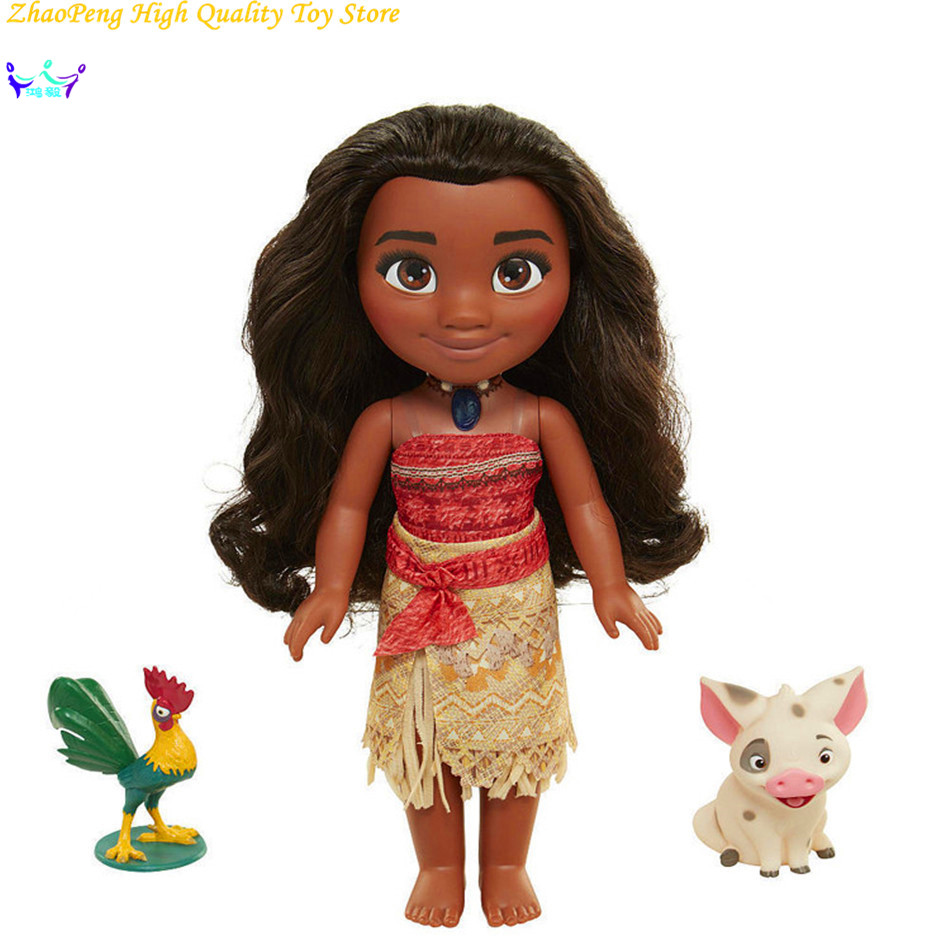 Children Gifts Toys Cartoon moana Talks Sing How Far I'll Go Luminescence Friends PUA HEI HEI pig PVC Figure Soft Stuffed Dolls стоимость
