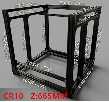 Funssor BLV mgn Cube Frame extrusion MGN Rails For DIY CR10 3D font b Printer b