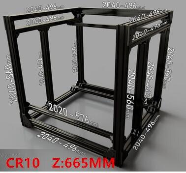 Funssor BLV mgn Cube cadre extrusion & MGN Rails pour bricolage CR10 3D imprimante Z hauteur 665 MMFunssor BLV mgn Cube cadre extrusion & MGN Rails pour bricolage CR10 3D imprimante Z hauteur 665 MM