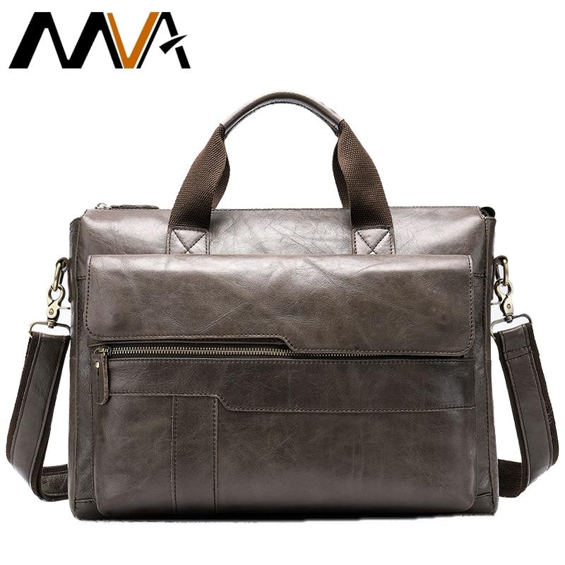 Célèbre marque hommes mode Simple mallette d'affaires sac mâle en cuir véritable pochette d'ordinateur décontracté hommes sacs voyage épaule 8615