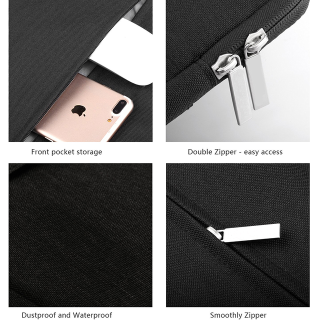 Nylon Laptop Sleeve Notebook Bag Pouch Case for Macbook Air 11 13 12 15 Pro 13.3 15.4 Retina Unisex Liner Sleeve for Xiaomi Air  3