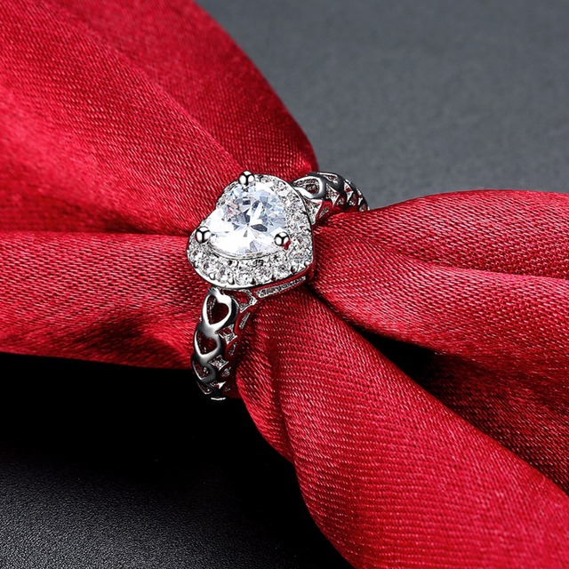 Купить 2020 красивые модные свадебные кольца серебряного цвета для картинки