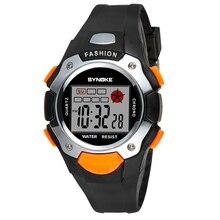 ФОТО kids watches timer alarm chrono digital wristwatches 30m waterproof boy girl clock children sport watch