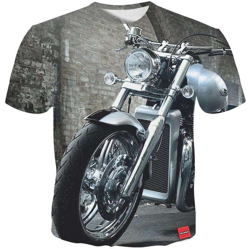 185790959 Camiseta para hombre estilo Cloudstyle nueva camiseta de verano con  estampado 3D de motocicleta Cool ...