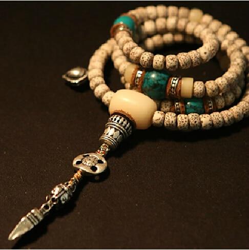 Perles de chapelet tibétain béni Mala graines tibétaines Mala bouddhiste 108 perles de prière tibétain Designer Mala