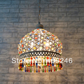 M size COLORFUL K9 Crystal Ceiling Pendant Lamp Lighting Chandelier Bedroom Dining Bohemia Corridor For Cafe Bar Coffee Shop