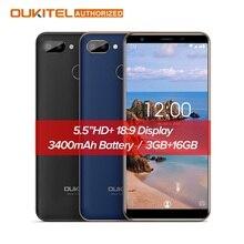Original OUKITEL C11 Pro 4G Smartphone 5.5 inch 18:9 Android 8.1 Quad Core 3GB RAM 16GB ROM Cell phones 3400mAh Mobile Phone
