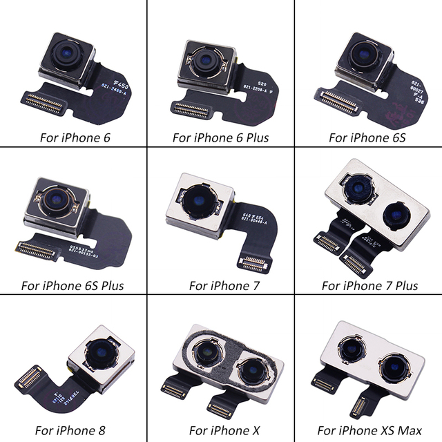 Netcosy Big Camera Rear Camera Back Camera Module Flex Cable Replacement Part For iPhone 6 6 Plus 6S 6S Plus 7 7 Plus 8 X XS MAX