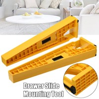 2Pcs Drawer Slide Jig Mounting Bracket Box Cabinet Hardware Install Guide Tool for Woodworking Tools
