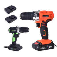 21V Wireless Electric Drill Screwdriver With 2 Batteries 2 Speed Home DIY Drilling Machine Hand Drill Power Tools Matkap Makita